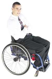 business man in wheelchair